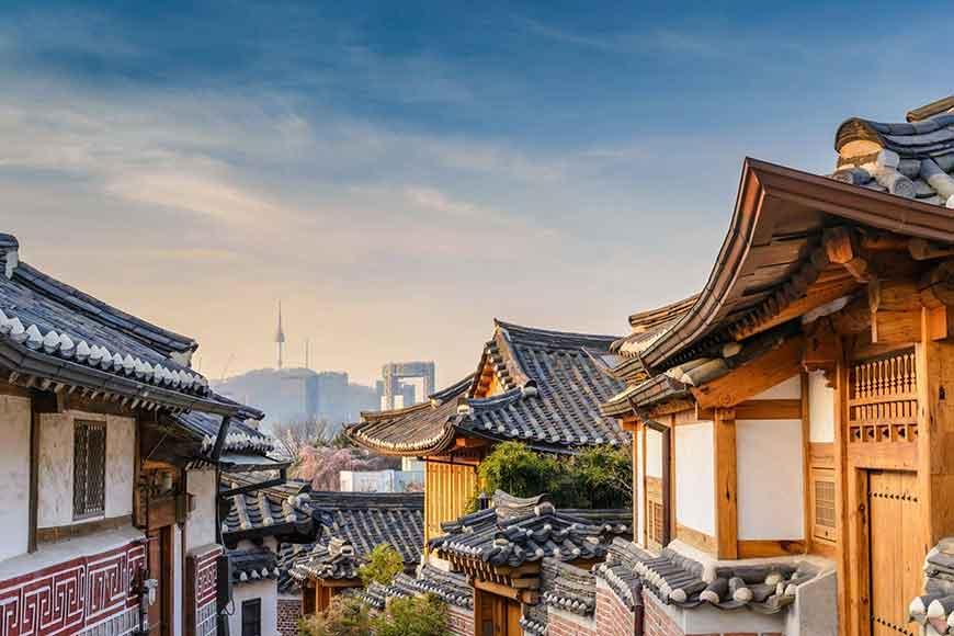韓國紅葉景點-北村韓屋村