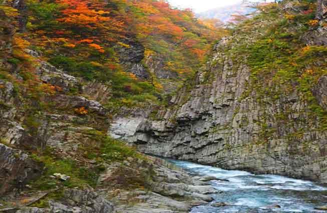清津峡紅葉必去景點
