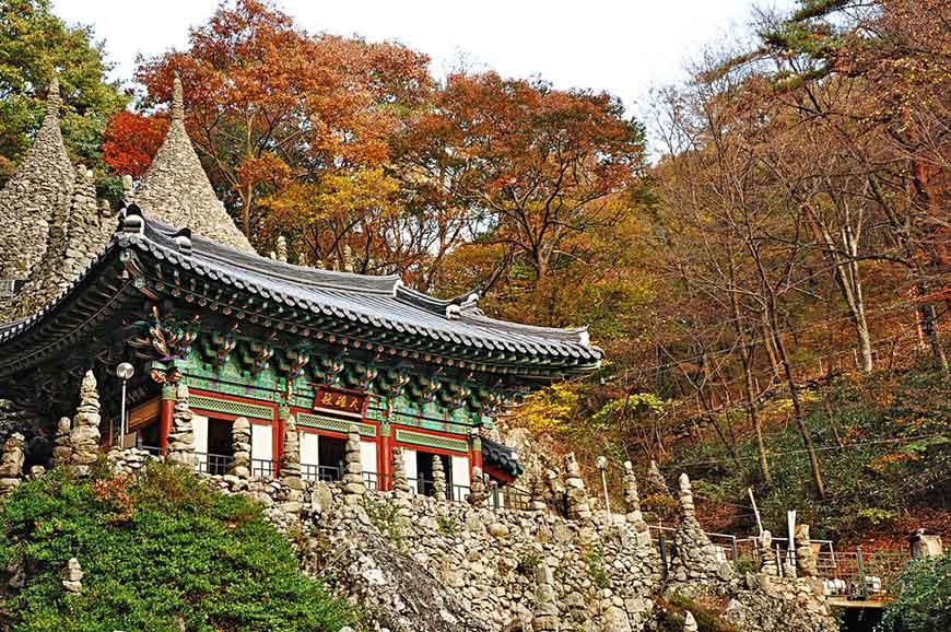 韓國紅葉景點-馬耳山道立公園