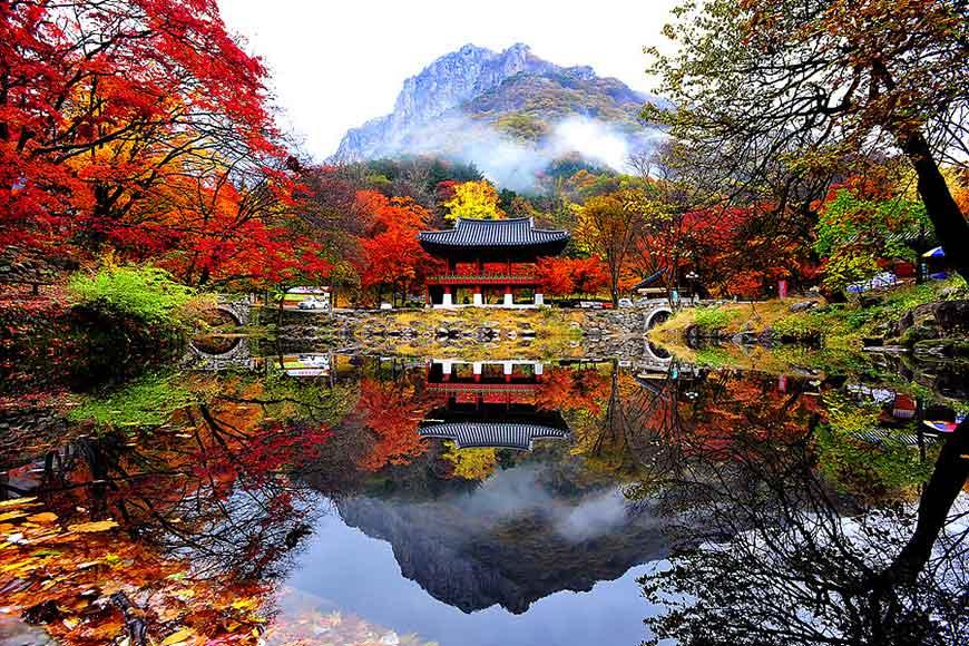 韓國紅葉景點-內藏山國立公園