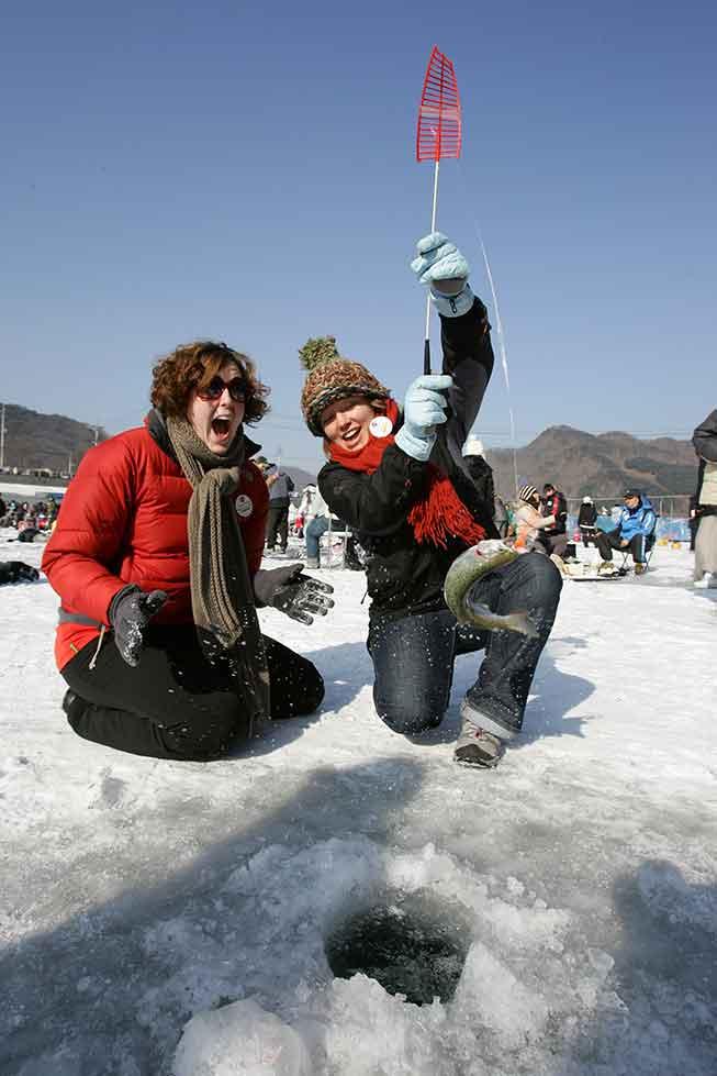 韓國華川冰釣山鱒魚慶典必去景點